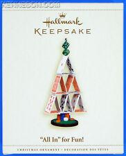 """All In"" for Fun! Card Tree Game Hallmark Keepsake Christmas Ornament 2006"