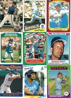 HUGE GEORGE BRETT BASEBALL CARD LOT - KANSAS CITY ROYALS - HALL of FAMER