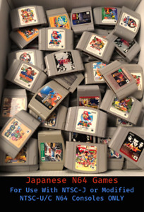 Japanese Import Nintendo 64 Games (N64 Japan) * You Pick ** Combined Shipping **