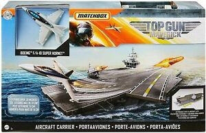 Matchbox Top Gun: Maverick Aircraft Carrier Plus Boeing F/A8 Super Hornet - NEW