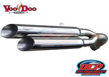 08 - 12 NEW CAN-AM SPYDER GS RS VOODOO POLISHED SHORTY DUAL EXHAUST MUFFLER