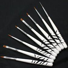 UV GEL & Acrylic Nail Art Tips Design Dotting Painting Pen Polish Brush Set