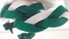 NEW! Hunter Green White Grippy Bands Headband Hair Sports Soccer Softball Sweaty