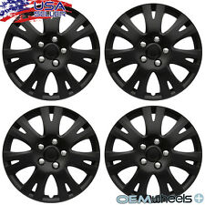 "4 NEW OEM MATTE BLACK 16"" HUB CAPS MESH MAZDA6 6 WHEEL COVERS SET USA"
