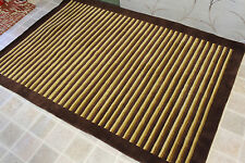 R9195 EXCLUSIVE STRIPE WOOL & SILK HAND MADE TIBETAN RUG 4' X 6' MADE IN NEPAL