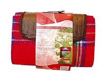NEW WATERPROOF FLEECY TRAVEL PICNIC BLANKET RUG MAT CARAVAN PET 170 X 130 CM
