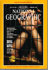 National Geographic February 1991 Hong Kong/Surma/US-Soviet Dive/Russia/Refugees