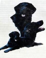 "#281 Ceramic Decals 1 Flat Coated Retriever Dogs 3"""