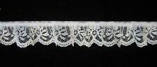 "White 1"" GATHERED Lace Dolls Bridal Clothing Scrapbooking Towels 5 yards #701"