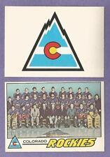 1977-78 OPC O-PEE-CHEE Colorado Rockies Team Set