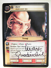 Autographed  2E Rom, Undercover Spy  (Max Grodenchik) black ink