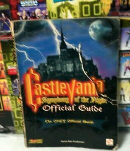 1997 Castlevania Symphony of The Night The Only Official Guide Book Konami (tear