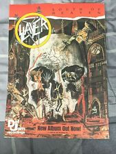 Slayer / Kerry King / 1988 South Of Heaven Lp / Album Magazine Print Ad + Dvd
