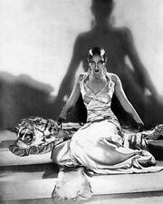 AFRICAN AMERICAN ART PRINT Josephine Baker on Tiger Rug 1925 McMahan Photo