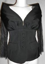 NEW Luisa Spagnoli Womens Black lace Blazer Jacket Size:42 RRP £299