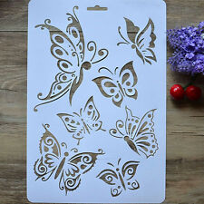 DIY Craft Butterfly Stencils Template Painting Scrapbooking Stamps Album sheet