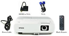 Epson PowerLite 84 Lcd Projector 2600 Lumens Hdmi-adapter Hd 1080i +Accessories