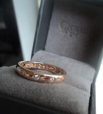 Clogau Welsh Oro Rosa 18 KT Cariad 3 x Anello di Diamanti-Taglia L