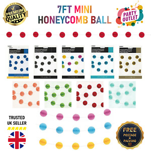 7FT MINI HONEYCOMB BALL GARLAND PARTY BIRTHDAY  SPECIAL OCCASIONS