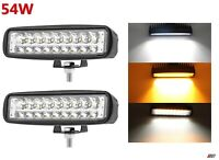2x 54w 18 Led Drl Slim Daytime Running Lights Indicators Car Fog Day Driving Drl