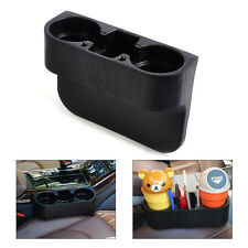 Universal Black Car Seat Seam Wedge Cup Drink Holder Mobile Shelf Content Box