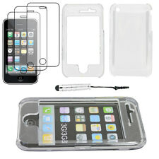 Coque Housse Etui Rigide Transparent Apple iPhone 3GS 3G+Mini Stylet+3 Films