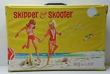 1965 Skipper & Skooter Doll Case Playing On the Beach Doll Trunk