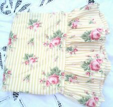 Ralph Lauren Sophie Brooke Standard Pillowcase Yellow Floral Stripe Ruffle Hem