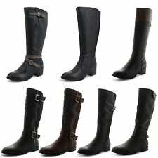 Synthetic Leather Upper Block Casual Boots for Women