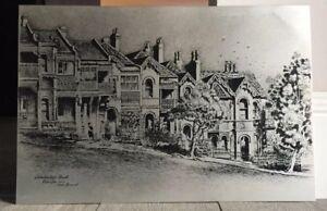 Cedric Emanuel Lithograph Vintage Australian Art Cambridge Street Paddington NSW