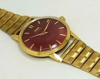 vintage hmt sona gold plated hand winding men's India made wrist watch