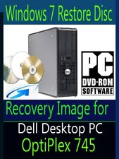 Windows 7 Operating System Recovery Disc for Dell OptiPlex 745 Desktop