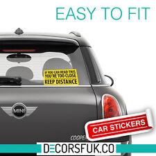 Mantener una distancia Auto Adhesivo, parachoques, ventana, Laptop, Dl Tamaño-adhesivos para coches