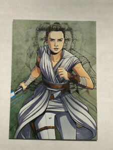 Topps Star Wars Journey to Rise of Skywalker REY Illustrated Character Card #I6