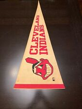 CLEVELAND INDIANS VINTAGE EARLY 1970s MLB BASEBALL PENNANT
