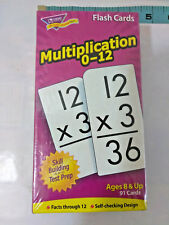 "TREND Skill Drill Flash Cards, 3"" x 6""  Multiplication Home School"