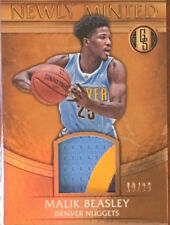 2016-17 MALIK BEASLEY GOLD STANDARD NEWLY MINTED ROOKIE 3COLOUR PATCH MINT 19/25