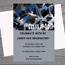 Graduation Hats Celebration Graduate Party Invitations x 12 +envs H0985