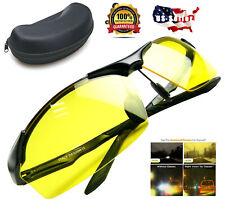 Polarized Tac HD Night Vision Glasses for Men Driving Sports Aviator sunglasses