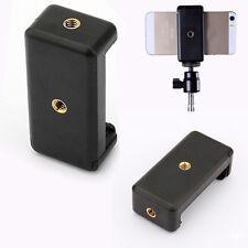 Stativ Adapter mit Gewinde | 2x mit Standfuß Aufsatz für Handy/Smartphone black