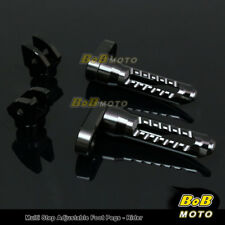 For Yamaha XJR 1200 95 96 97 98 BLACK 25mm Adjustable Front Foot pegs