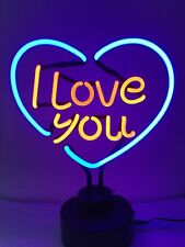 I Love you @ HERZ Neon sign Leuchtreklame signs Neonschild Neonleuchte Lamp