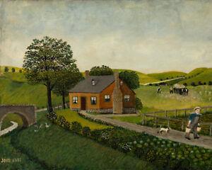 Farm by John Kane 60cm x 48cm Art Paper Print