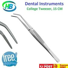 DENTAL INSTRUMENTS COLLEGE TWEEZERS COTTON PLIERS STAINLESS STEEL 15CM,