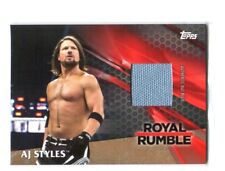 WWE AJ Styles 2017 Topps TNF Event Used RR Mat Bronze Relic Card SN 72 of 99