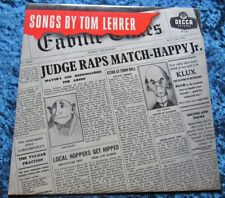 """10"""" Songs By Tom Lehrer In A1 Condition"""