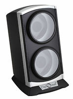 Diplomat Automatic Double Watch Winder - Black Silver 4 Settings Bi-directional