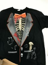 Men's Graphic T-Shirt XL Bones Ribs Skulls