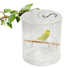 New Acrylic Bird Cage W/ Stand,Water Bowls ,Feeding Basin & Stainless Steel Hook