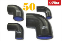 """4PLY Silicone Turbo Pipe BOV 90 Degree Elbow Joiner Hose 50mm 2"""" BK"""